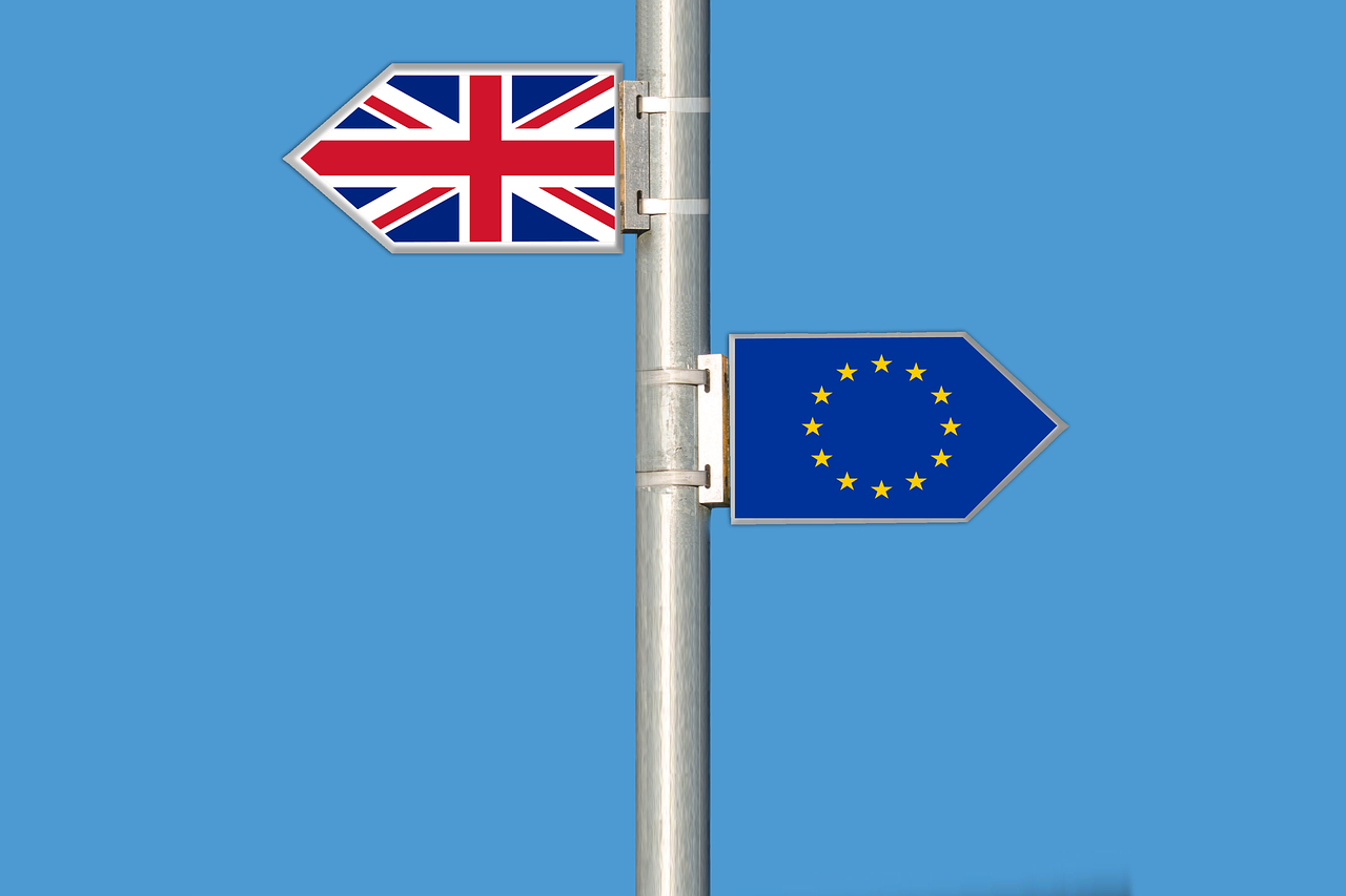 Flag of EU and UK