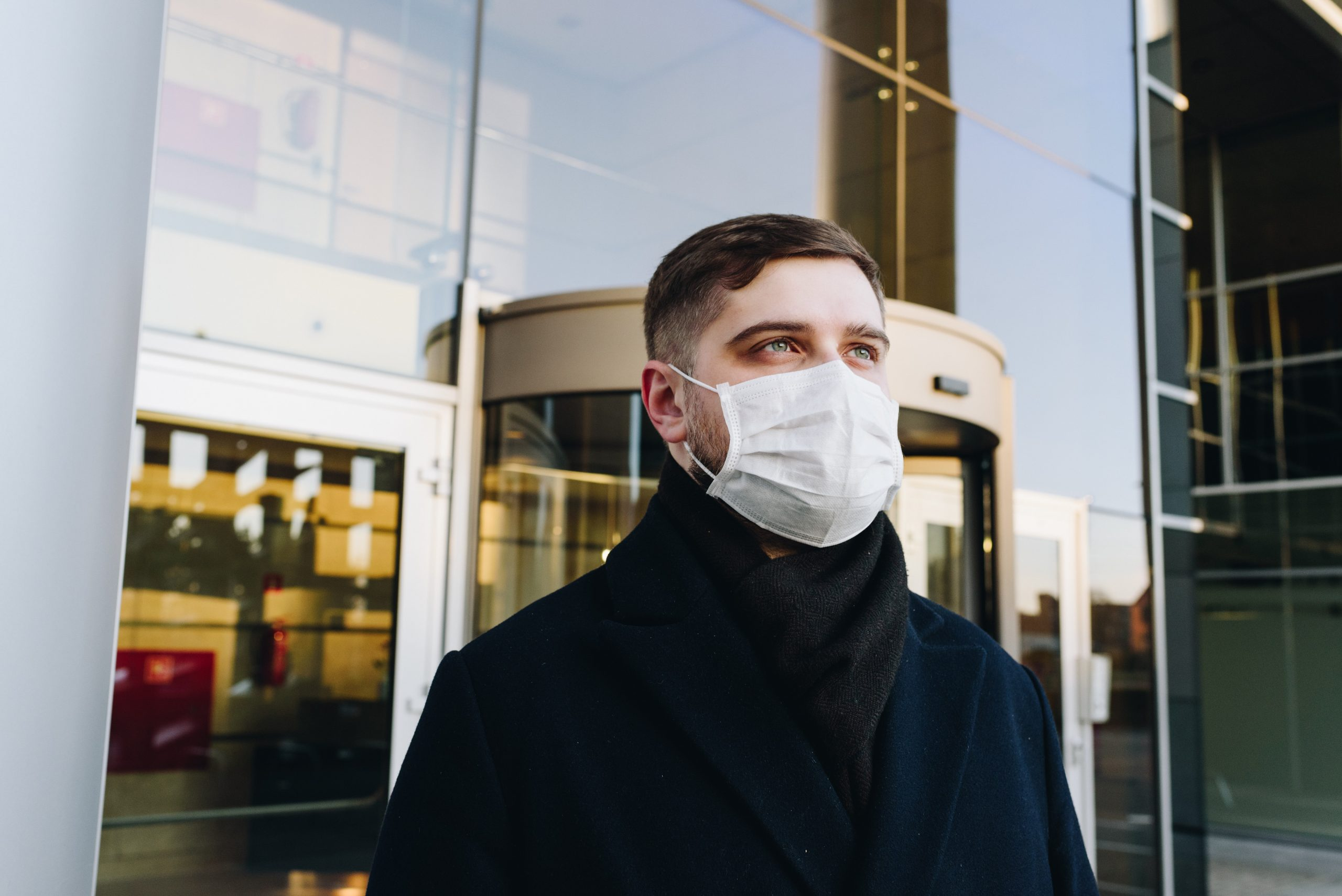 Person with face mask